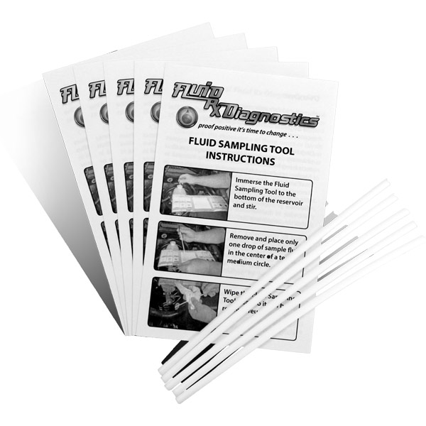 "Fluid Sampling Tools. 6"" Teflon Rods and Testing & Diagnostics Instruction Pamphlets with Science & Technology Overview (5 each). Product #00808-5."